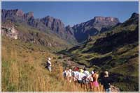 Guiding in the Drakensberg